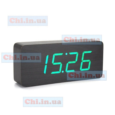 Часы led Wooden Clock 1292 цифровые