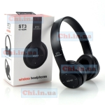 Наушники ST3 беспроводные Bluetooth TF-карта FM радио Черные