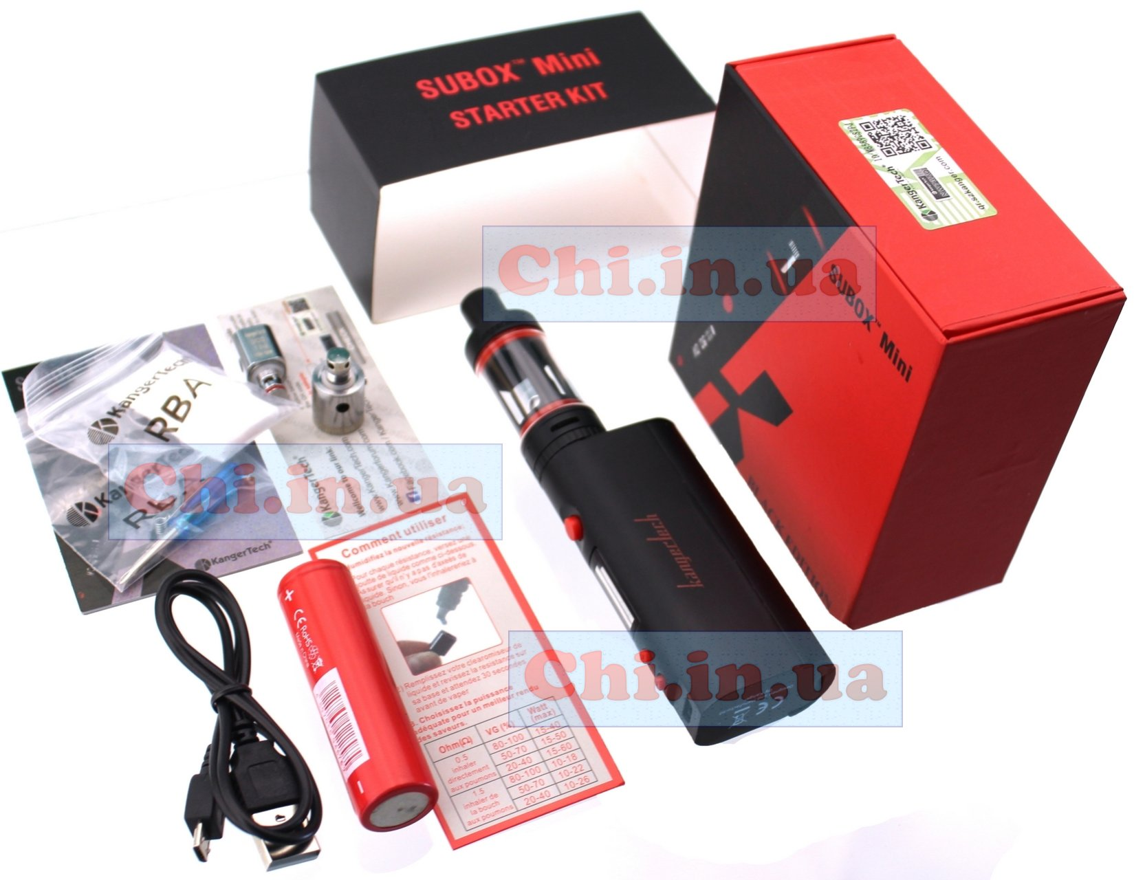 Subox Mini Starter Kit 50 w black edition Kanger tech