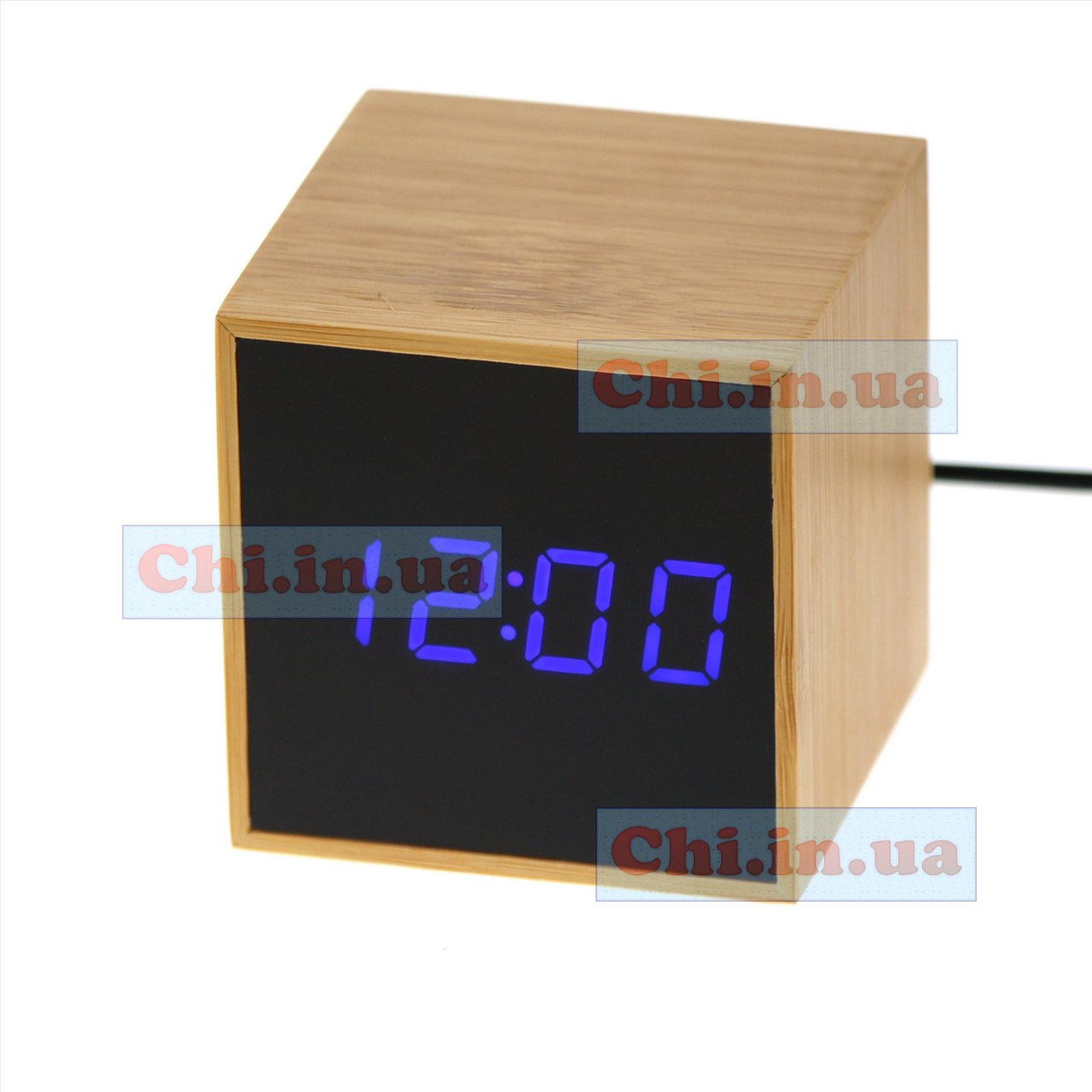bamboo led clock TS-M01 blue